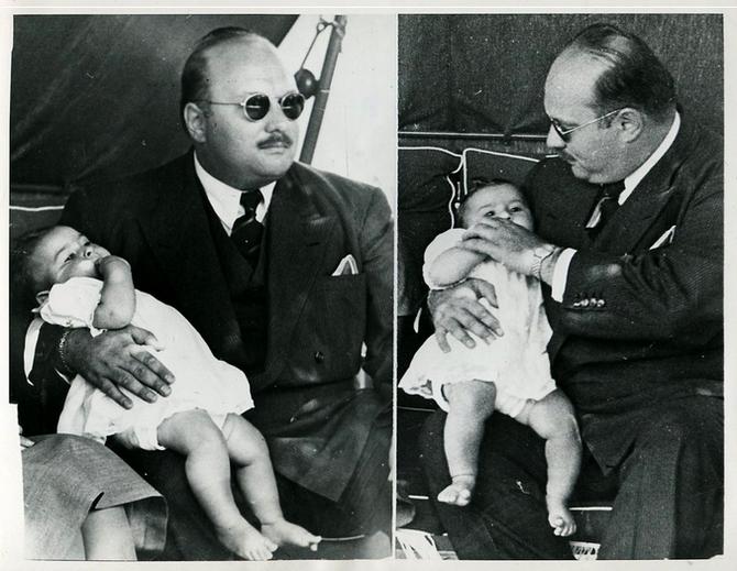1952 EXIL à ROME.  L'ENFANT DEVENU ROI LE 26 JUILLET 1952 APRES L'ABDICATION DE SON PERE EST DETRÖNE PAR LES MILITAIRES LE 18 JUIN 1953.  IL N'A JAMAIS ABDIQUE. 63 ANS APRES IL RESTE LE DERNIER ROI D'.EGYPTE.