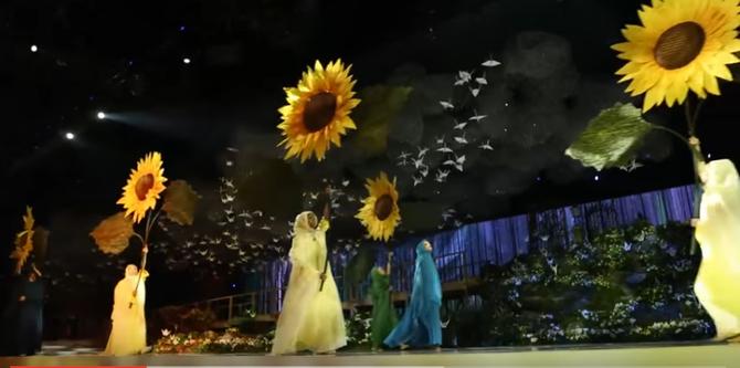 UNE SCENE DU BALLET FEERIQUE LE SOIR DU MARIAGE DE SHEIKHA LATIFA-83, LE 16 OCT. 2016