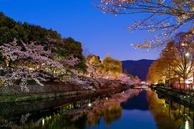 KYOTO. LE CANAL AU PRINTEMPS