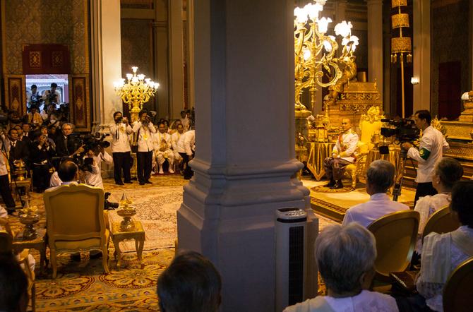 SALLE DU TRÔNE . CEREMONIE DE PRESTATION DE SERMENT