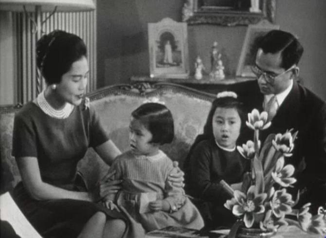 1960/1963. SUISSE; Avec les Princesses Ubol Ratana Rajakanya (1951  et Maha Chakri  Sirindhorn (1955).