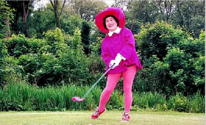 """MASAKO OHYA (Oct. 1920+Janv. 1999). Propriétaire du Château d'Humières, Seine et Oise, elle créa en 1989 un Golf célèbre.  Elle voulait  Bouffémont mais en voyant un certain Bernard elle déclara : """"Je ne discute  pas avec les larbins"""" et claqua les talons"""
