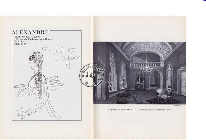 """PROGRAMME 1964 . """"BONHEUR, IMPAIR et PASSE"""" de Françoise SAGAN"""