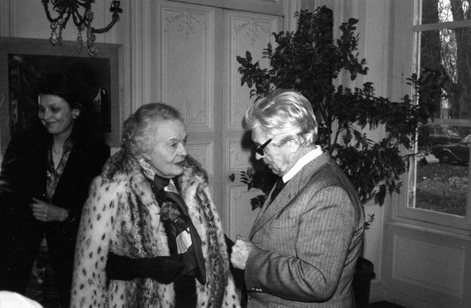 PINTERVILLE Samedi 1er Mars 1980. g. à dte. Dorothée KOECHLIN de BIZEMONT, Louise WEISS.... Georges WAKHEVITCH