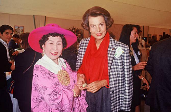 1989. MASAKO OHYA et LILIANE BETTENCOURT FINALE TROPHEES LANCÔME; C* Maguy T.