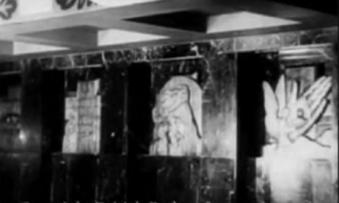 DETAILS DE LA CHAPELLE. PHOTOS PRISES LORD DU VOYAGE INAUGURAL en 1935.