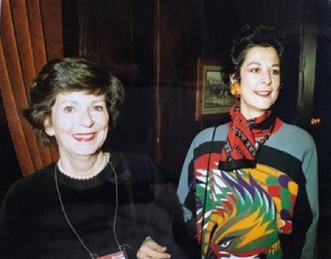 1989. A TRAVERS LE TEMPS et L'ESPACE NOUS VOILA ARRIVES AU 60eme ANNIVERSAIRE DE LORRAINE. A g. CATHERINE QUI N'ETAIT PAS ENCORE NEE EN 1953. C* Catherine BONNET