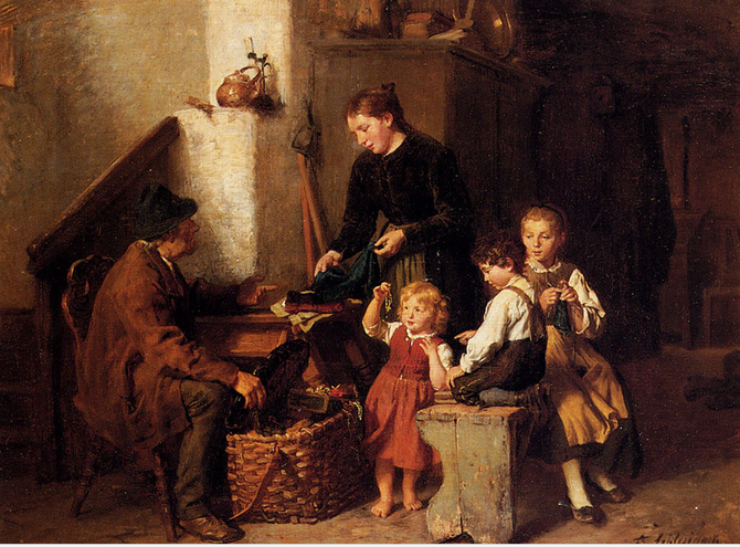 LE COLPORTEUR par FELIX SCHLESINGER (1833 + 1910)