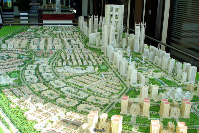 MAQUETTE DE AL SALAM CITY. PROGRAMME SUR 15 ANS : 2005 à 2020.