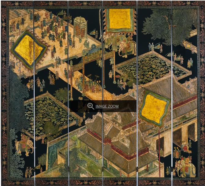 Circa 1939. ECOLE DES BEAUX-ARTS de  HANOI   6 Panneaux  218,5X242,5 cm. C* Sotheby's Hongkong
