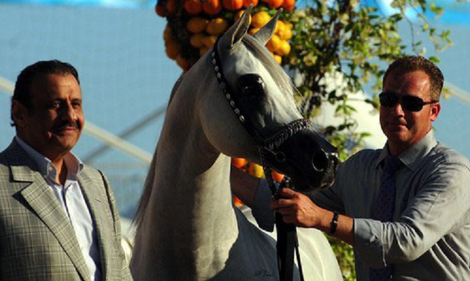 MENTON  2010 (ou 2006 ?). SAR le Prince KHALED bin SULTAN, BANDEEROS, Philippe HOSAY