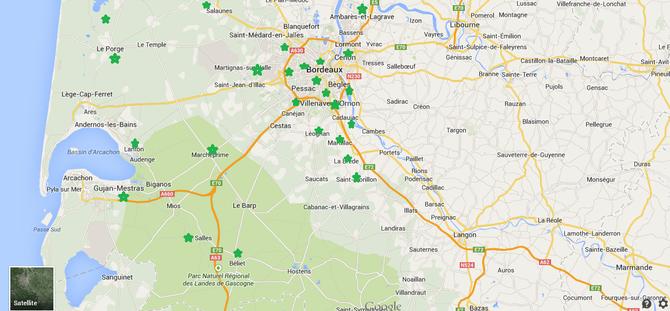 Plan de localisation des amap des environs