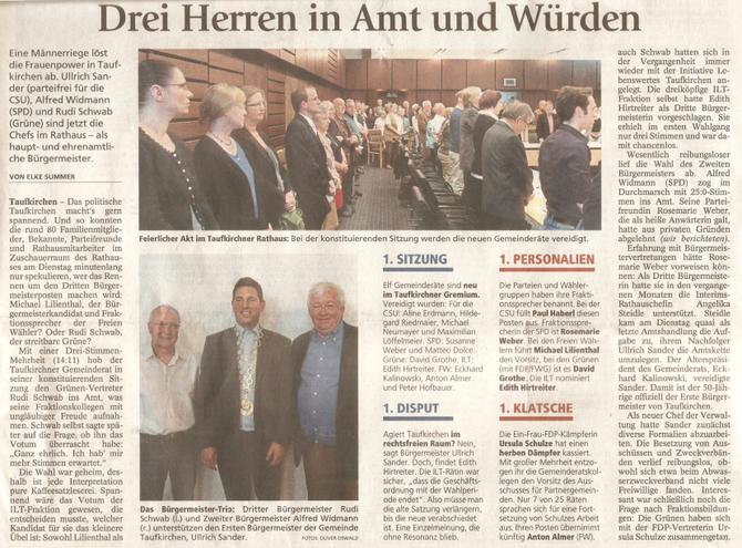 Artikel aus dem Münchner Merkur vom 08.05.2014