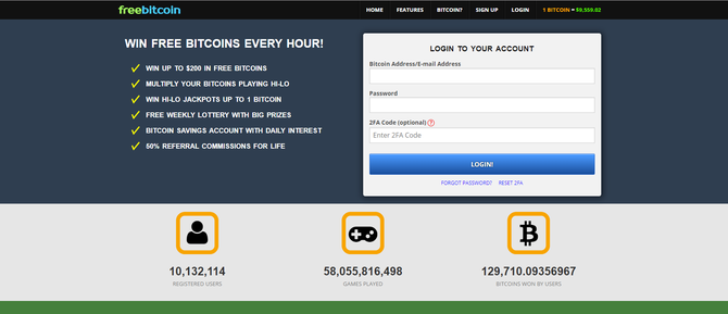 Freebitcoin registro
