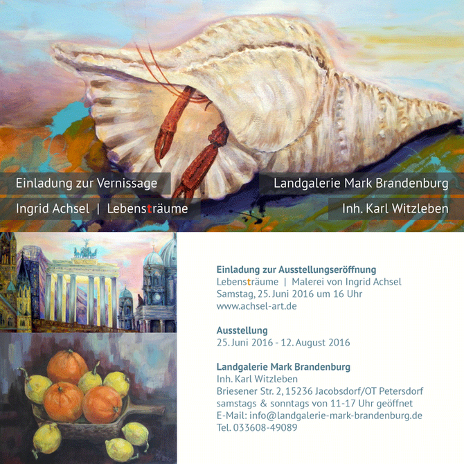 Ingrid Achsel, Kunst, Malerei, Acryl, Landgalerie,