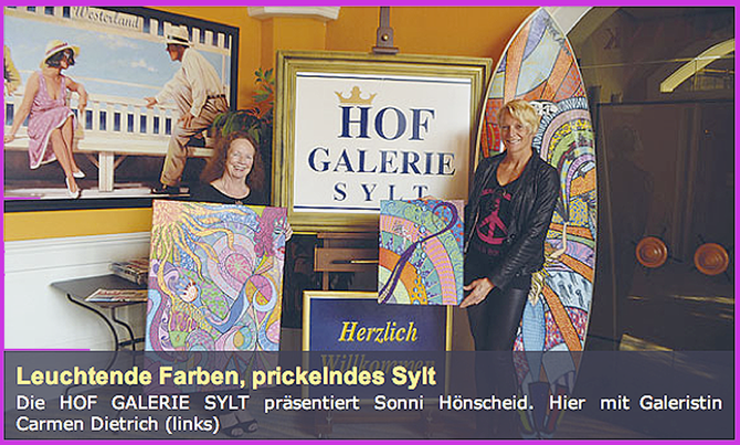 "Sonni presents her art in the ""Hofgalerie"", Westerland Sylt"