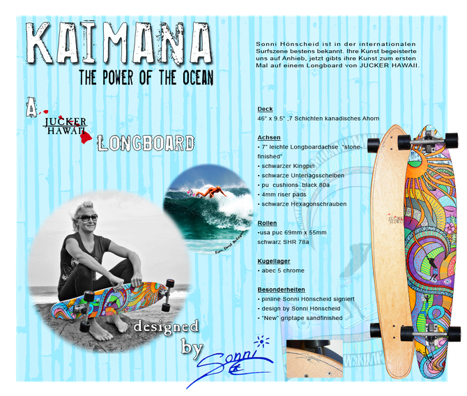 """Kaimana"" longboard designed by Sonni Hönscheid for Jucker Hawaii"