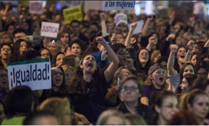 8 de marzo. Huelga feminista. Si `pinchas en la imagen te llevará a la página web http://hacialahuelgafeminista.org/