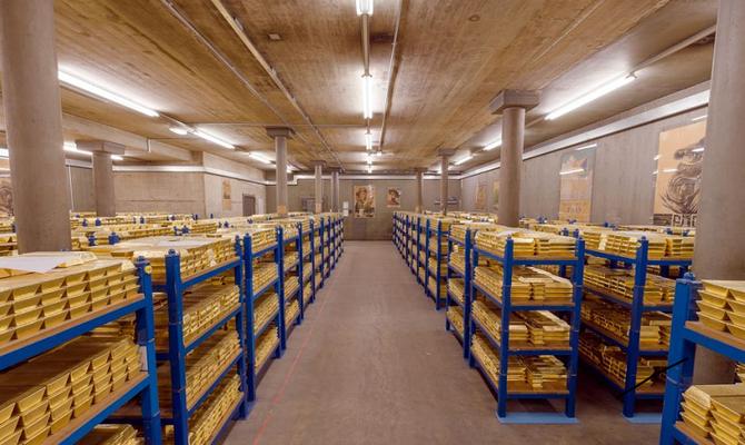 Ein geheimes Goldlager Gewölbe  (Tresor) in London