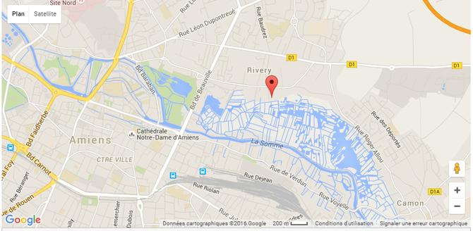 Plan extrait du site du Club nautique de Rivery