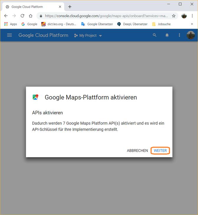 Google Maps Platform - webtechnologien.com on