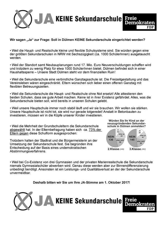 11 Wochen - 4000 Unterschriften - Danke! - FDP Dülmen