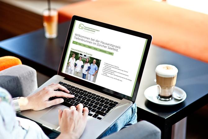 Die neue Website der Praxisgemeinschaft Tiefenbrunnen.