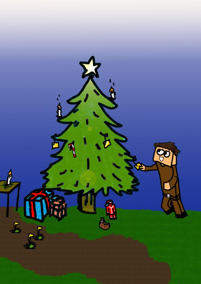 Fred schmückt sein Weinachtsbaum und freut sich auf den ersten Schnee! Fred liebt den Winter, wie ich auch deshalb will ich ihm auch noch einen Winter-skin machen ;D euer Wipf1000