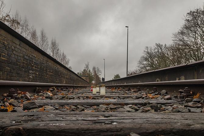 Berlin, Grunewald, Gleis 17. Von 1941 bis 1945 wurden von hier aus Juden in die Vernichtungslager deportiert
