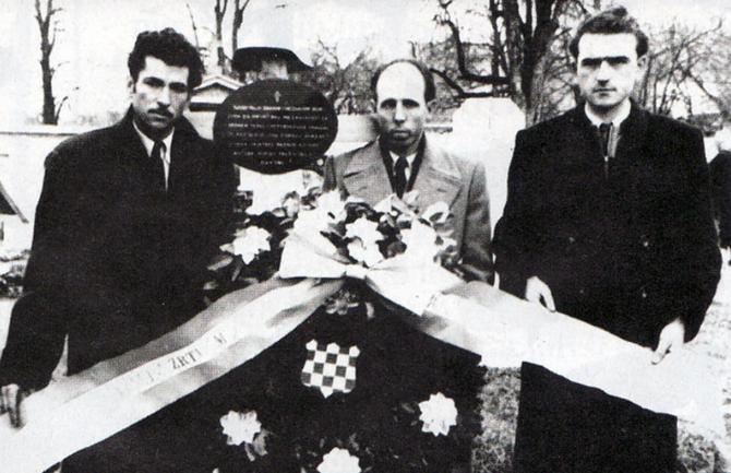 Ante Mikrut, Nikica Martinović i Franjo Vranjković na Sve svete 1951. godine