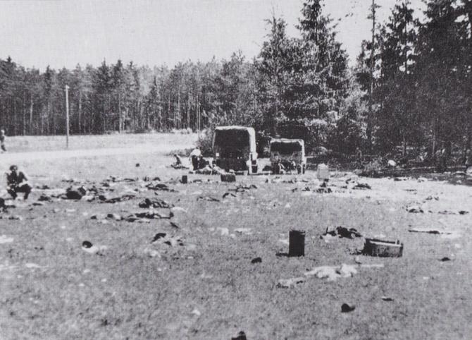 Polje kod Lawamünda nakon izručenja Hrvata svibnja 1945.