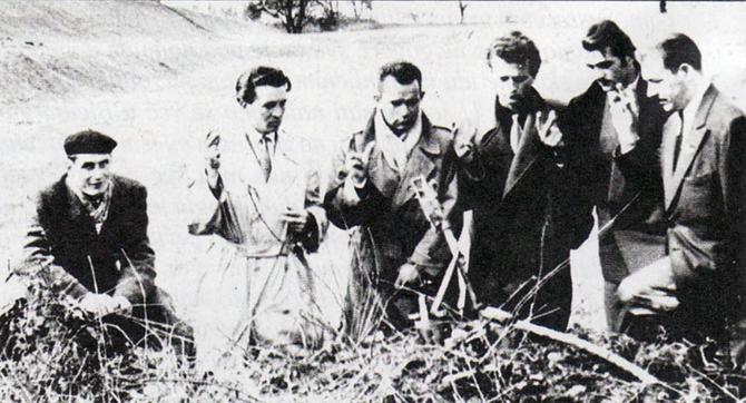 (slijeva nadesno) Halil Dedić, Mirko Karačić, Petar Hrstić,Ante Mačinković , Ante Samovojska i Josip Đakić