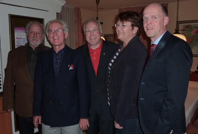 Der gewählte Vorstand (v.l.): Klaus Menzner, Günther Weber, Gerd Leutner, Elke Richter-Kreis, Jörg Erdmann