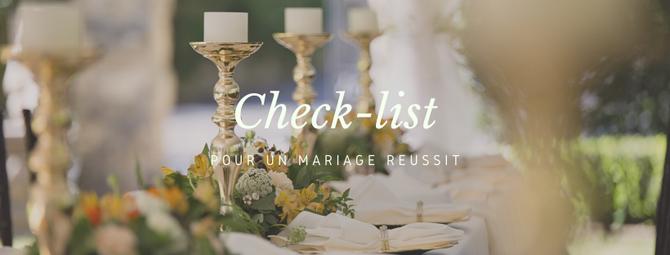 Check-list pour un mariage réussit