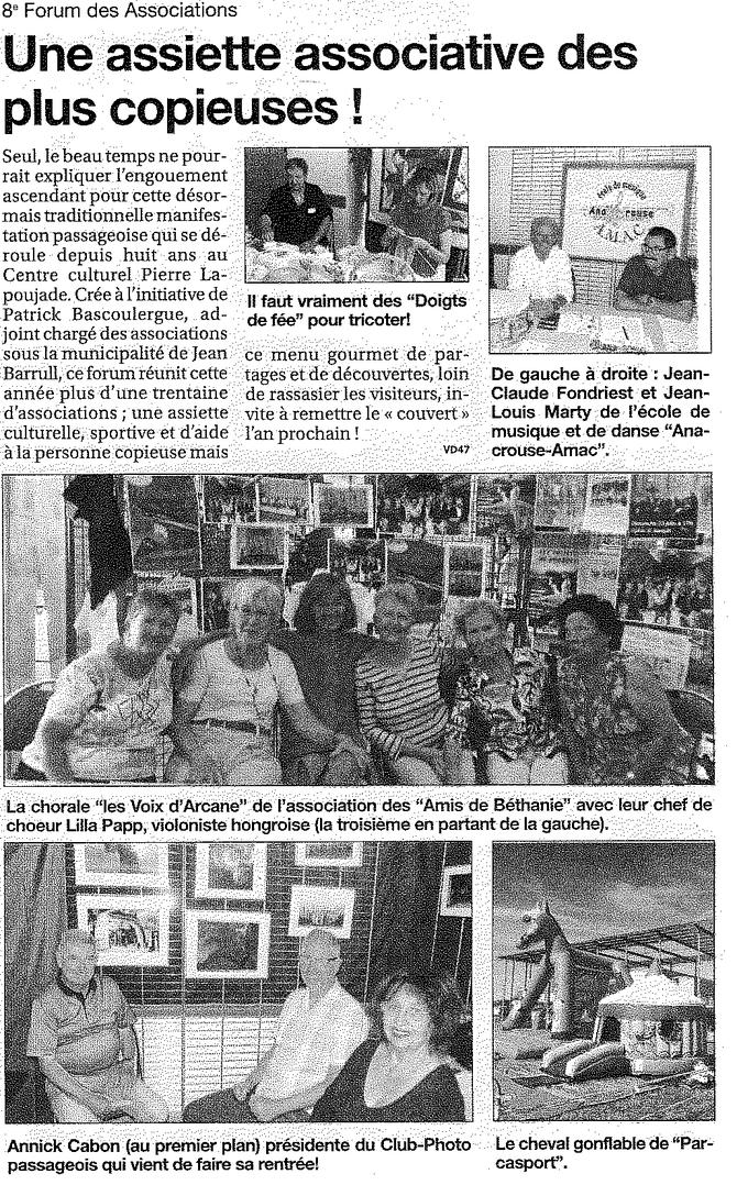 Le Petit Journal semaine du 17 au 23/09/2014