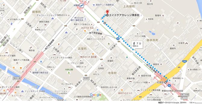 地下鉄祇園駅からの徒歩ルート