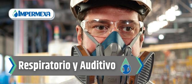 Portada equipo de protección respiratoria y auditiva