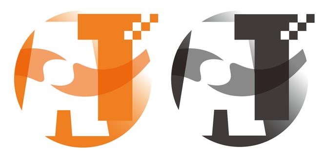 アルケミートレード株式会社 ロゴ単体 カラーバージョンとモノクロバージョン