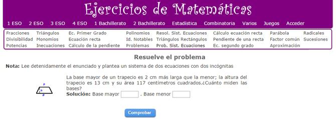 SISTEMAS DE ECUACIONES LINEALES - MT 2º ESO - Página web de matesymates