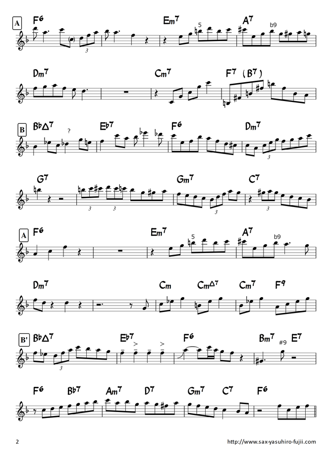 There will Never be Another You Hank Mobley solo Transcription in Bb - 2/2