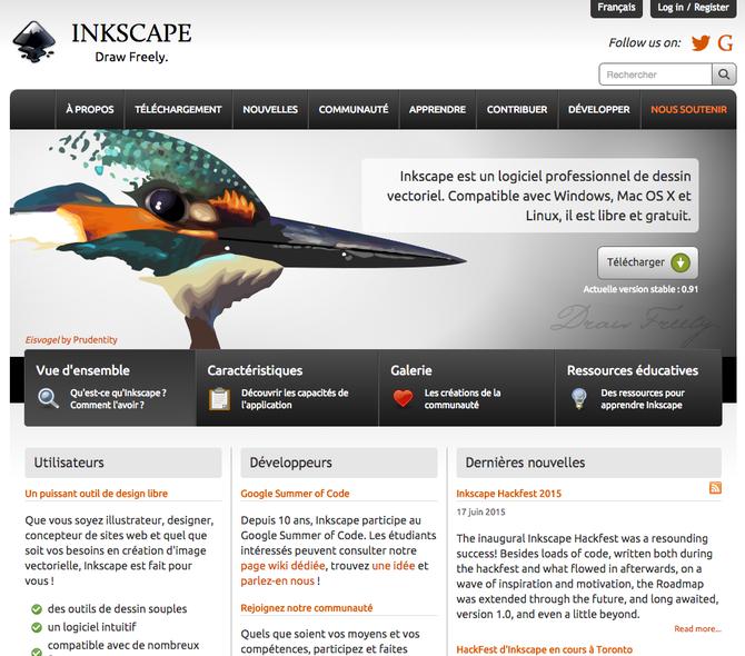 Inkscape, logiciel GRATUIT vectoriel