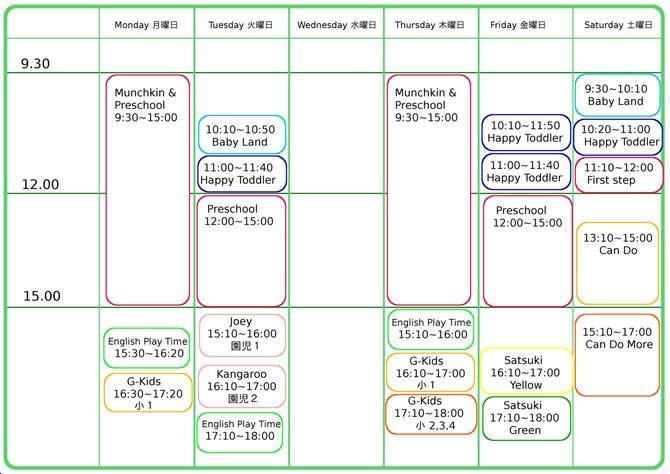2014 Aprils~ schedule
