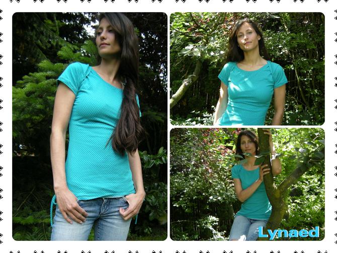 Shirt mit amerikanischem Halsausschnitt für Damen