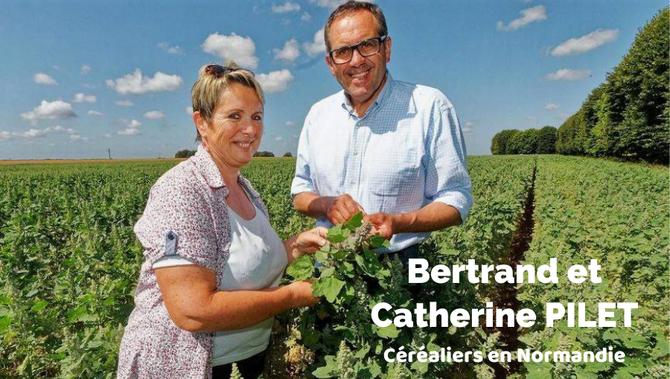 Bertrand Pilet, céréalier en Normandie