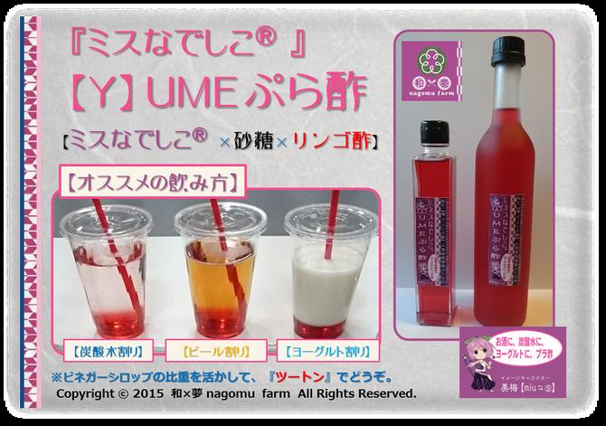 『ミスなでしこⓇ 【Y】umeぷら酢』
