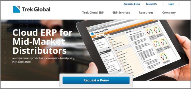 iDempiereプロジェクトのトップスポンサー Trek Global社のサイト