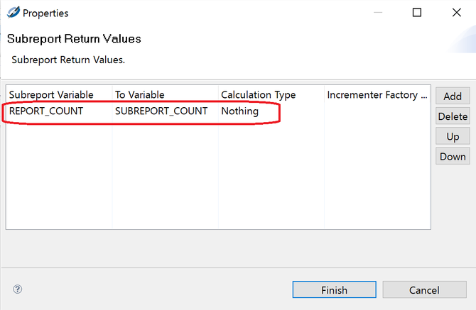 Subreport Return Values
