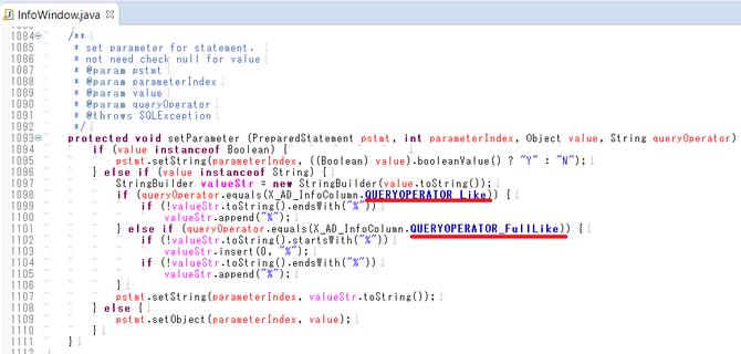 InfoWindow#setParameter()メソッド