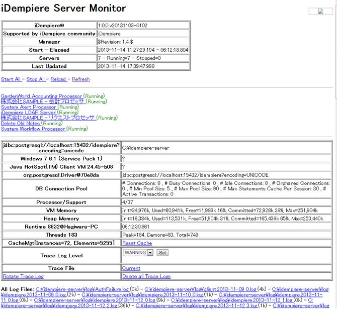 iDempiere Server Monitor