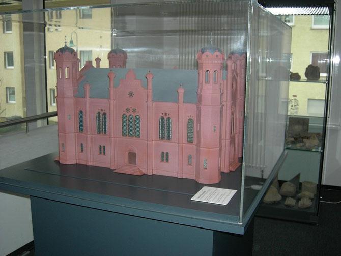 Modell der Liberalen Synagoge von Christian Häussler / Foto: Martin Frenzel (FLS)